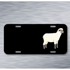 Sheep Animal Barn Farm Mammal Wool On License Plate Car Front Add Names