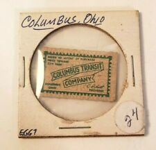 COLUMBUS OHIO TRANSIT AUTHORITY BUS TICKET CITY FARE -VINTAGE CARDED