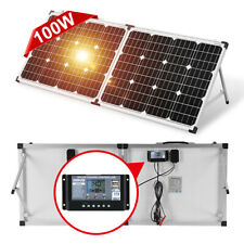Dokio 100W(50W*2) 12v Foldable Solar Panel For Car Battery/Camper/RV/Phone/Home