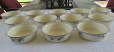 12 LENOX Soup Bowls POPPIES ON BLUE Chinastone Porcelain China