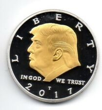 Donald Trump Silver & Gold Dollar City Coin President of the United States Man