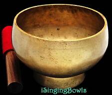 "Antique Tibetan Singing Bowl: Stem 6 1/4"", circa. 18th Century, D4 & G5. VIDEO"