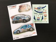 DECAL 1:43 PEUGEOT 206 WRC #34 M. STHOL / I. MINOR - RALLYE RAC 2003
