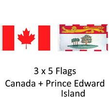 CANADA + p.e.i. 3ft X 5ft Bandeira Banner/2 Pk Alta Qualidade 100% poliéster