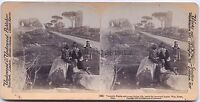 Roma via Appia Italia Foto Stereo Vintage Albumina 1900