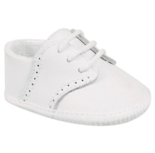 NIB Baby Deer White Leather Lace Up Shoe Size 0