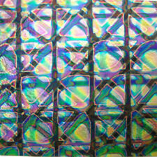 COE 96 fusible thin black Spectrum glass CBS puzzle mixture dichroic 4x4
