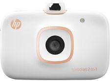 HP Sprocket 2-IN-1 Photo Printer + Camera White (2FB96A)+ 20 Sheet Paper BUNDLE