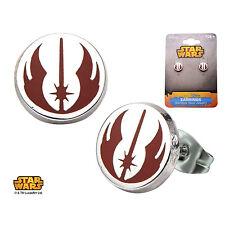 Stainless Steel Star Wars JEDI ORDER Symbol Enamel Stud Earrings (626)