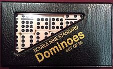 Double Nine  Dominoes Standard Size Black & Red Case w/ FREE Shipping