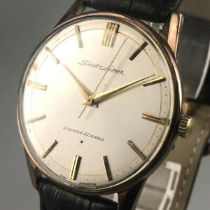 Vintage 1963 SEIKO LINER 23Jewels GOLD FILLED Hand-winding watch J15007 #485