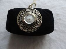 Vintage Caravelle Mechanical Wind Up Necklace Pendant Watch