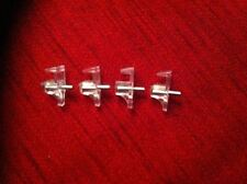 10 SUPPORTS FOR 5MM GLASS OR PLASTIC SHELVES NICKLE PLATED SHELF BRACKETS