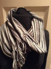 Grey  Charcoal  Circular Snood Cowl Scarf New 100% Lambs wool Neck Warmer