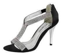 Zip Stiletto Satin Heels for Women
