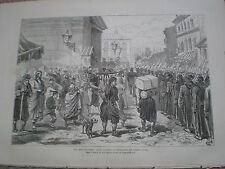 Extra soldiers for the Street Guard Istanbul Turkey 1877 print ref W3