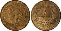 5  CENTIMES  CERES  1882  A  PARIS   ,    SUPERBE  À  FLEUR  DE  COIN