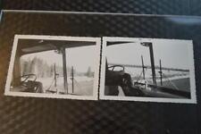 Unusual Vintage Photos Big Truck or Bus Window Views of Open Road 870