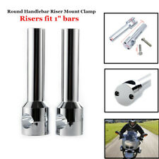 Round Motorcycle Modified Handlebar Riser Mount Clamp For Faucet Handlebar 25mm