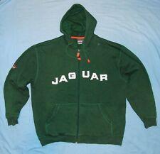 JAGUAR Racing / MENS - dark green zip-up hooded branded Top / Jacket. Size: L