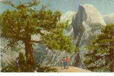 Yosemite National Park, CA  Half Dome  Union Oil #14    used postcard