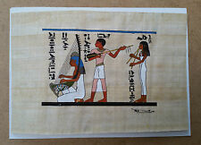 AUTHENTIQUE PAPYRUS 18 X 12 cm taille carte postale ART ANTIQUE EGYPTE ANCIENNE