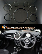 MK2 MINI Cooper/S/One/JCW R55 R56 R57 R58 R59 BLACK Dashboard Interior Ring Kit