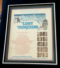Lost Horizon 1973 Movie Framed Original Promo Ad Peter Finch Liv Ullmann Musical
