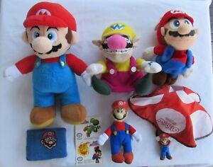 Nintendo NES Super Mario Wario Stuffed Plush Toys Lot of 4 & 3 more items USED