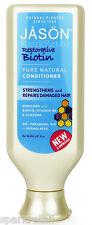 Jason Organic Restorative BIOTIN Conditioner Repairs Damaged Hair 454g