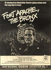"23/1/82Pgn20 Advert: Paul Newman In 'fort Apache, The Bronx' 9""x7"""