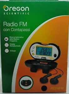 RADIO CONTAPASSI OREGON SCIENTIFIC PE316FM CALCOLO DISTANZA PERCORSA RETROILLUM