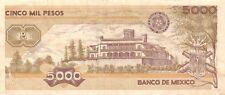 México  5000  Pesos   24.2.1987  Series  HN  Prefix  R  Circulated Banknote