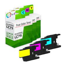 3Pk TCT LC75 LC75C LC75M LC75Y HY Brother MFC-J430W J435W J825DW Compatible Ink