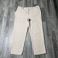 Talbots Womens Size 12 Perfect Crop Khaki Pants Trousers
