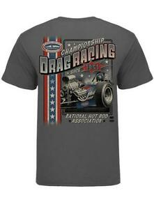 N.H.R.A. T-SHIRT SMALL STARS & STRIPES RETRO FRONT ENGINE DRAGSTER RACING NEW