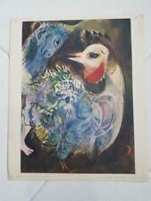 "Marc Chagall "" Les plumes en fleurs"" Lithographie adagp Braun 1957"
