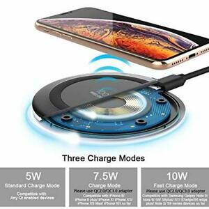 Wireless Charger Compatible with iPhone and Samsung