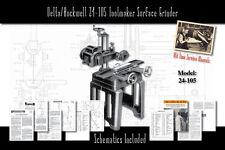 Delta/Rockwell 24-105 Toolmaker Surface Grinder Manual Part List Schematics etc.