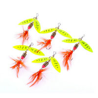 Spinner FishingLure MetalSpoon Lures hard bait fishing tackle Atificial 4.5g  NT