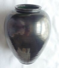 WESTRAVEN (UTRECHT) VASE - Classical Amphora shape – Metallic grey – 16.5 cm hig