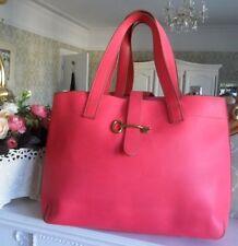 Fossil Austin Flamingo Pink Leather Tote Shoulder Bag Shopper Work Uni Travel