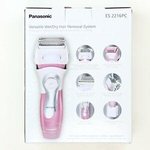 Panasonic Close Curves Ladies Pink Shaver w/ Bikini Trimmer ES2216PC Open Box