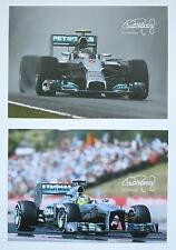 (2) Nico Rosberg Racing Cards Photo Lot Mercedes Formula 1 F1 *CHAMPION*