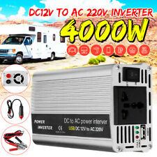 4000W Car Power Inverter DC 12V TO AC 220V Modified Sine Wave Camping Inverter