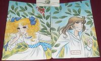 1 QUADERNO SCUOLA VINTAGE NOTEBOOK COVER COPPIA LOVE MANGA CANDY CANDY e TERENCE