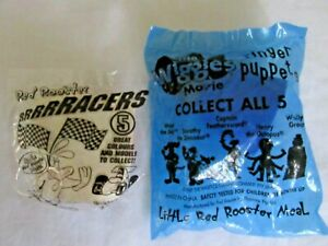 LITTLE RED ROOSTER MEAL WIGGLES FINGER PUPPETS WALLY THE GREAT & RRRRRACERS CAR
