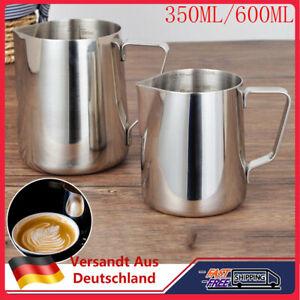350ml Milchkännchen Edelstahl Espresso Aufschäum Kännchen Milchkanne Milchgießer