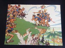 Rare ancienne image de calendrier scout FSC Illustrée par Joubert Scoutisme