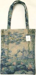 MONET WATER LILY TAPESTRY SHOPPING TOTE BAG BY ROLANDE DU DREUILH, 32CM X 41CM